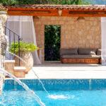 Fontaines de la piscine